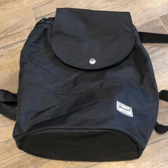 Black Herschel drawstring backpack